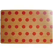 Red Polka Dots Rectangle Placemat Serving Dinnerware Dining Table Mat Tableware