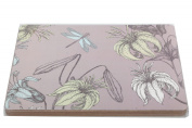 Placemats Table Mats Botanical Floral Design With Dragonfly Set Pack Of Four Lil