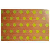 Green Polka Dots Rectangle Placemat Serving Dinner Dining Table Mat Tableware