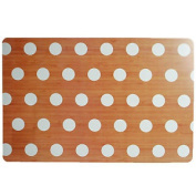 White Polka Dots Rectangle Placemat Serving Dinner Dining Table Mat Tableware
