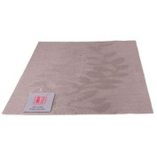 4 Istyle - Teslin Woven Placemat 30cm X 45cm - Taupe Leaf