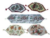 Xmas Tapestry Runner Holly Christmas 33cm X 180cm Village Carol Bells Poinsettia