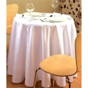 Stalwart Ce497 Tablecloth, Damask Ivy Leaf, Round, 170cm , White