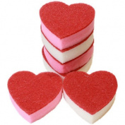 6x Heart Shaped Washing Up Dish Scouring Sponges, Valentines Love Of The Sink