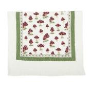 Mushroom Toadstools Red Cream 100% Cotton Made In Netherlands Tea Towel 40x60cm