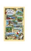 Beauty Spots Of Cornwall Tea Towel Souvenir Lands End Loos Truro Cathedral