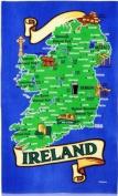 Ireland Map Design 100% Cotton Tea Towel