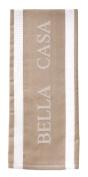 Ladelle Single Bella Casa Latte Beige White Tea Towel Kitchen Drying Cloth New