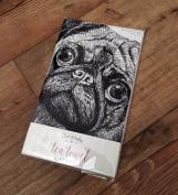 East Of India 'pugs And Kisses' Tea Towel 1245 Eoi