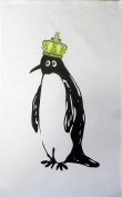 The Emperor Penguin Cotton Tea Towel By Half A Donkey