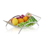 KUN PENG SHOP Creative 304 stainless steel fruit basket European living room coffee table decorated fruit plate storage basket fruit pots A+