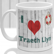 Traeth Llyn mug, Gift to remember Wales, Ideal present,custom design.