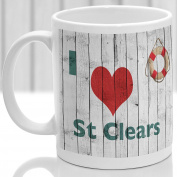 St Clears mug, Gift to remember Wales, Ideal present,custom design.