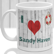 Sandy Haven mug, Gift to remember Wales, Ideal present,custom design.