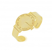 "Vanina Women's 18ct Yellow Gold Plated ""time is now"" Watch Cuff"