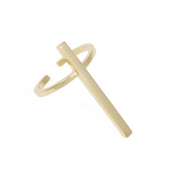 SCHIELD Women's Gold Plated Cross Ring
