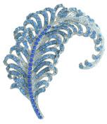 Sindary Pretty 8.5cm Leaf Brooch Pin Austrian Crystal Pendant UKB5065