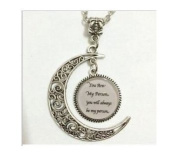 You are my person you will always be my person white pendant Moon Necklace