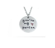 you are my person greys anatomy necklace best friends necklace friendship jewellery