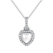 Heart Diamond Necklace Halo Pendant Birthstone CZ Jewellery for Women Love Christmas Gift for Women