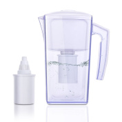Alkaline Water Filter Jug with 2 Long Life Filters, 2.5L OXA Smart Water Pitcher BPA-Free