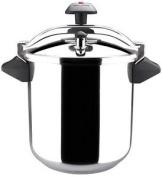 Magefesa Inoxtar Stainless Steel Pressure Cooker, Black, 8 Litres