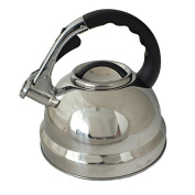 Voche® 3.5l Polished Stainless Steel Stovetop Whistling Kettle Gas Electric Hobs