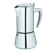 "Kela ""latina"" Espresso Maker, Stainless Steel, Bright Silver, 300 Ml"