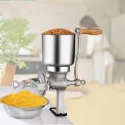 Manual Corn Grinder Maker Wheat Grain Nut Mill Cast Iron Silver For Kitchen Tool