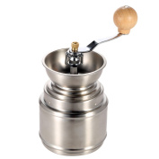 Anself Portable Manual Coffee Grinder With Adjustable Ceramic Burr Stainless