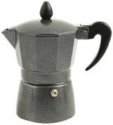 Galileo Casa Petra 3 Cup Espresso Maker, Die-cast Aluminium, Grey