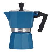 Barazzoni The Coloured Coffee Maker 1 Cup, Aluminium, Blue, 6.6 X 12.4 X 13.1 Cm
