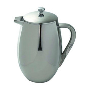 Berghoff 1 Litre Stainless Steel Studio Double Wall Coffee/tea Plunger, Silver