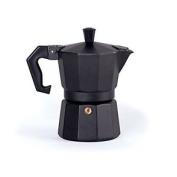 Excelsa Chicco Cafetiere, Aluminium, Black 1 Cup Black