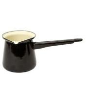 Black Turkish Coffee Pot Enamelled Steel 400ml. Huge Saving