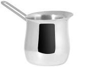 Home Turkish Coffee Mugs 8 With Handle, Stainless Steel, Grey