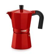 Monix M281709 - Aluminium Coffee Maker, 9 Cups, Strawberry Colour