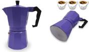 Italian Espresso Stove Top Coffee Maker Pot 3 Cup Purple