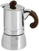Home Lili Caffè Oro Coffee Maker 6 Cups, Stainless Steel