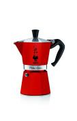 Bialetti Moka Express Aluminium 6 Cup Capacity 0009133 Pot Red