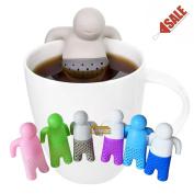 Mr Tea Silicone Man Tea Leaf Filter Strainer Herbal Spice Infuser Colander Cute