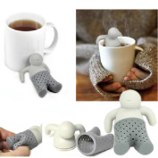 Mr Tea Infuser Loose Leaves Strainer Herbal Spice Filter Silicone Diffuser Uk