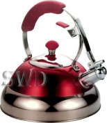 3.5l Red Modern Stainless Steel Whistling Kettle Suitable For Induction Gas And