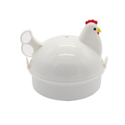 Cadillaps Chicken Shape Microwave Egg Poacher 4 Eggs Boiler Steamer