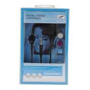 Grundig 51539 Digital Stereo Earphones Headphones With 3 Earphone Caps/buds New