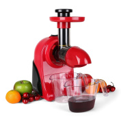 Klarstein Fruitpresso Rosso Slow Juicer Extractor 150w, 80 Rpm, Two Containers -