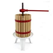 Kukoo Manual Apple Fruit Press For Homemade Juice, Wine & Cider Making, 6 Litre,