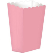Candy Buffet Light Pink Small Popcorn Boxes X 5