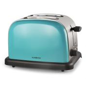 Klarstein Bt-318-s Stainless Steel 2-slice Toaster Turquoise Blue Chrome 2-slot