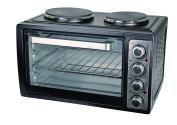 Kalorik Mini Oven With Double Hotplates, 28 Litre, 3100 W, Black